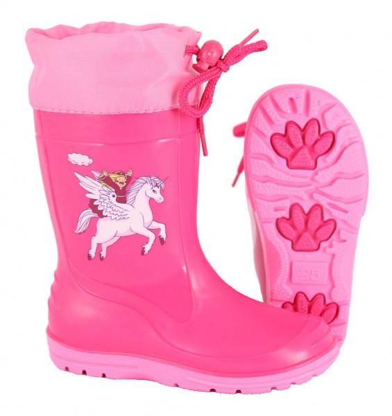 Gummistiefel Kinder Einhorn PVC pink