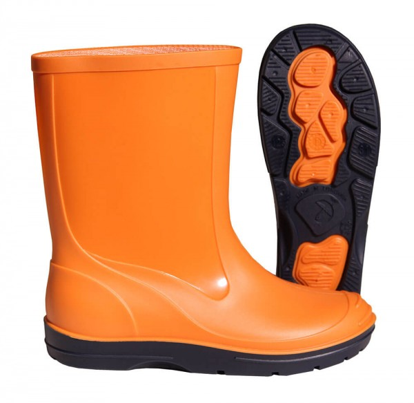Gummistiefel Kinder Basic PVC orange